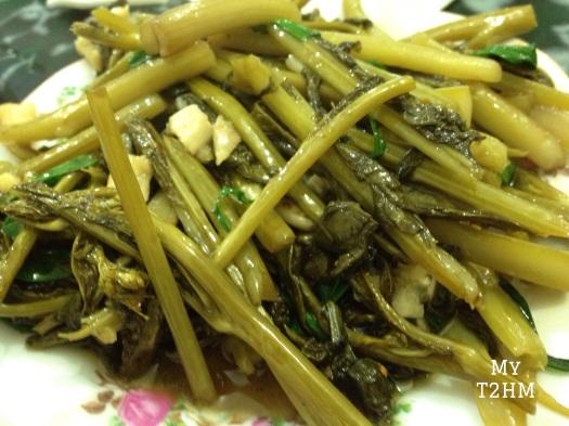 Rau cải cay xào tỏi